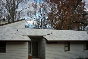 Our roof a week ago.