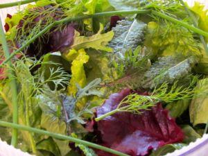 A close-up of tonight's salad.